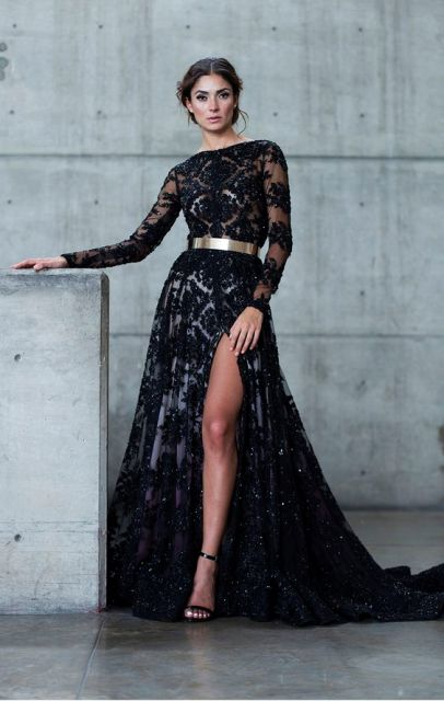 Brokat Long Dress 2019