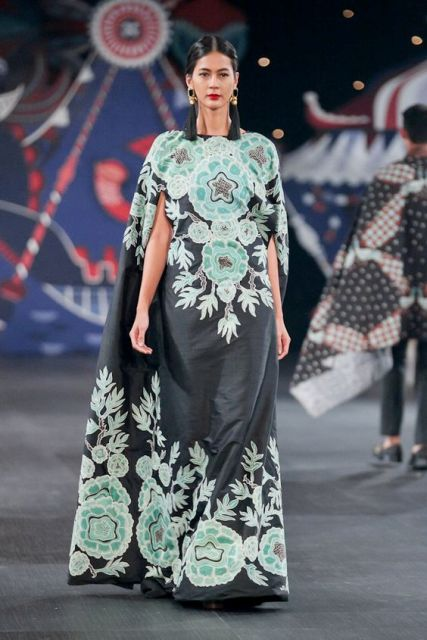 Gaun Batik Model Long Dress 2019