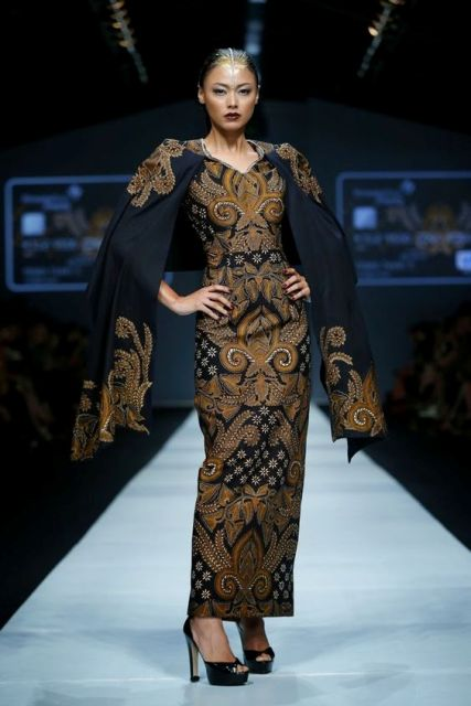 Long Dress Batik Model Cape 2019