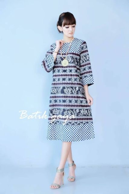 Baju Dress Batik Etnik 2019