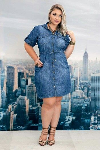 Model Denim Dress Wanita Gemuk 2019