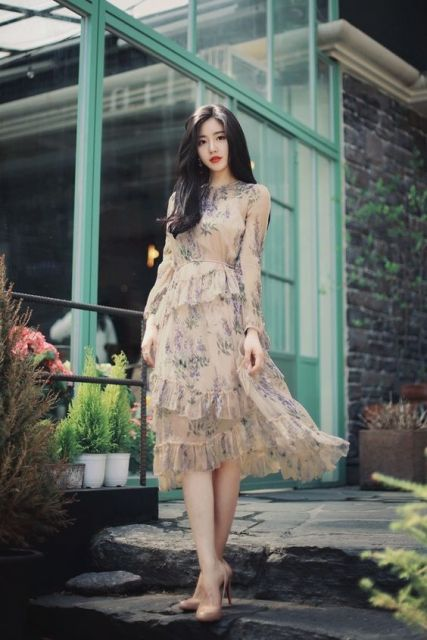 18 Model Dress Korea 2019 Untuk Acara Santai Formal Dan Pesta
