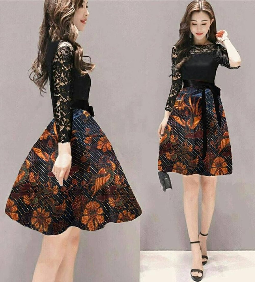 Dress Brokat Batik 2019