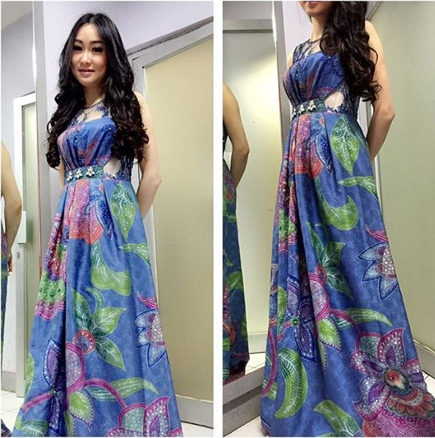 Model Baju Batik Dress Pesta: 87 Baju Pesta Modern Edisi Gaun Pesta Simple Elegan 2019